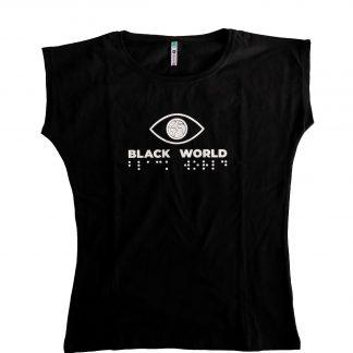 Damska koszulka z logo Black World